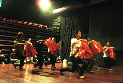 people performing Tank Man Tango